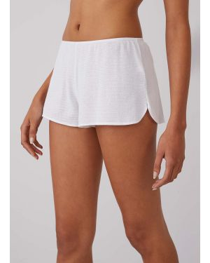 Women's Cellular Cotton French Knickers in White