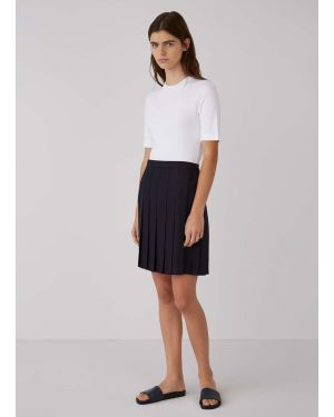 Women's Travel Wool Short Kilt in Navy