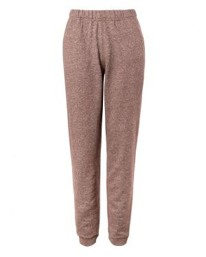 Women's Cotton Loopback Track Pant in Rust Mouline