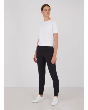 Women's Cotton Loopback Track Pants in Black