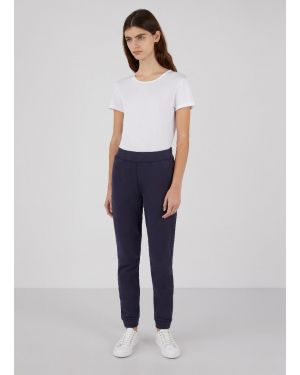 Women's Cotton Loopback Track Pants in Navy