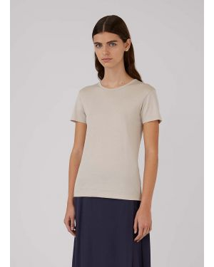 Women's Classic Cotton T-Shirt in Putty