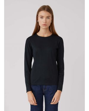 Women's Cotton Long Sleeve T-Shirt in Black