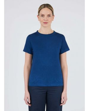 45R and Sunspel Women's Cotton Indigo Dyed T-Shirt in Real Indigo