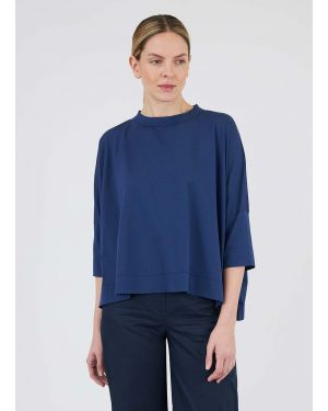 45R and Sunspel Women's Cotton Square Cut T-Shirt in Navy