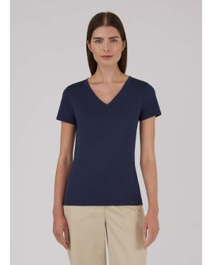 Women's Classic Cotton V-Neck T-Shirt in Navy