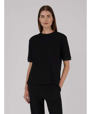 Women's Organic Cotton Towelling T-Shirt in Black
