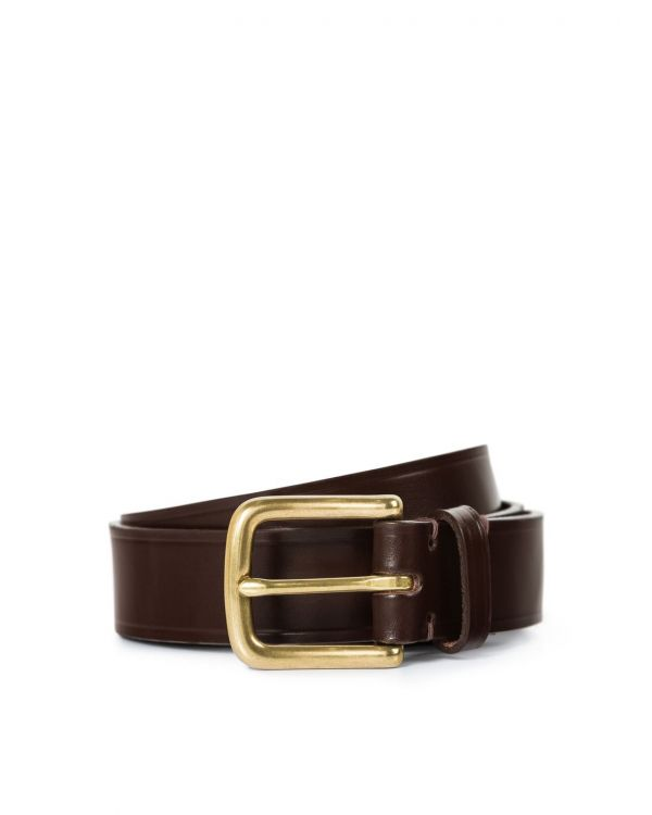 30mm Bridle Leather Belt in Brown