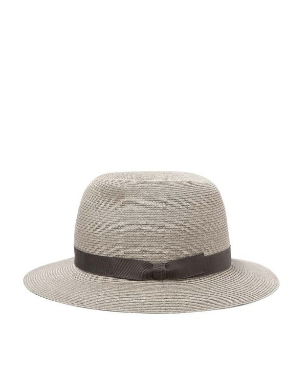 Kijima Takayuki and Sunspel Paper Hat in Grey Melange