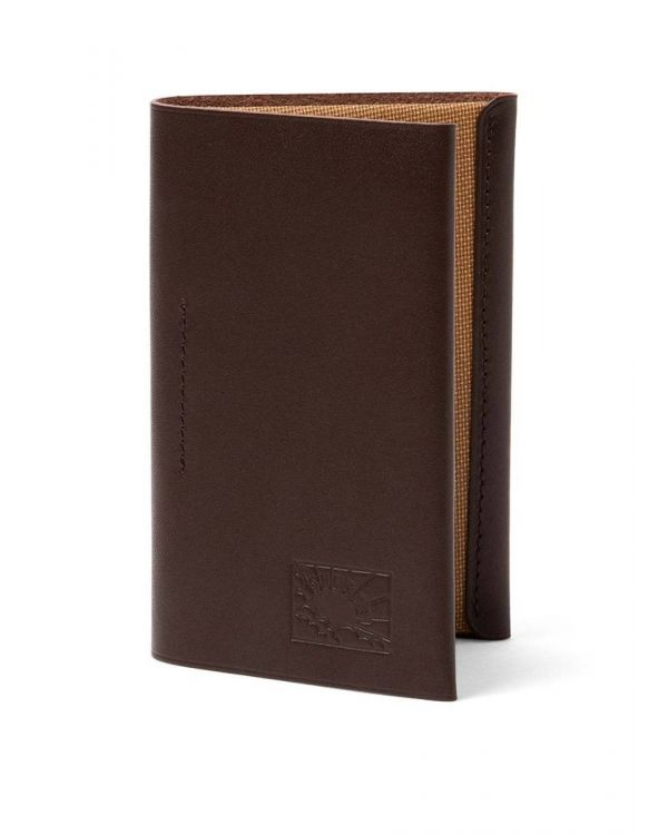 Postalco for Sunspel Leather Cardholder in Dark Brown