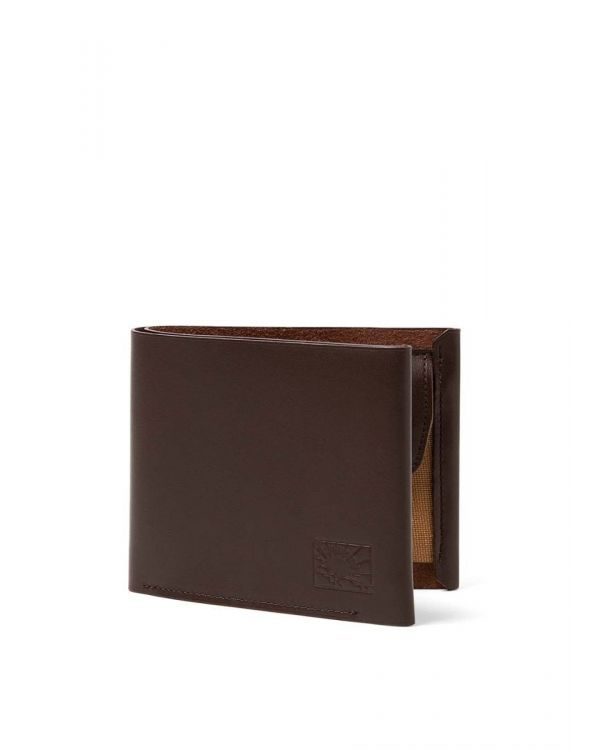 Postalco for Sunspel Leather Wallet in Dark Brown