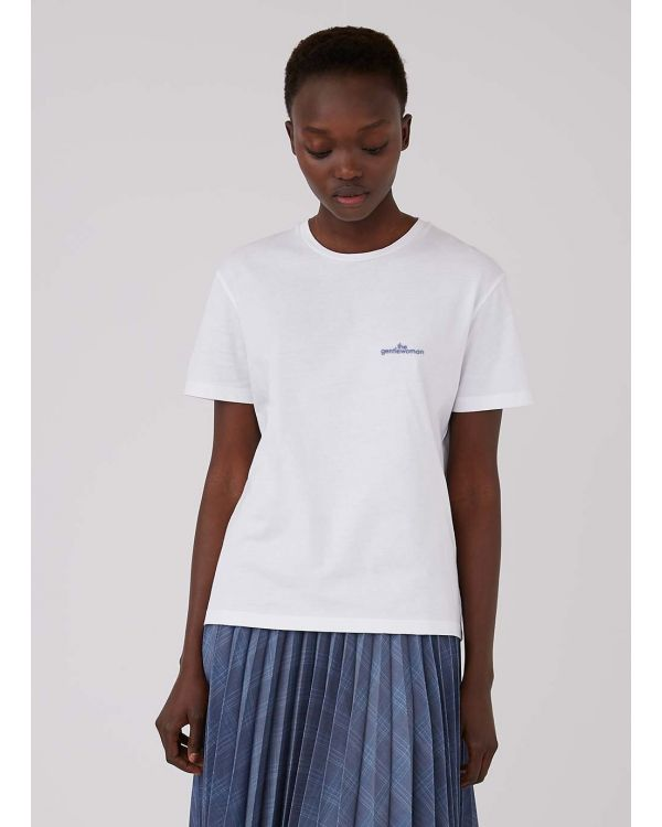 The Gentlewoman and Sunspel Cotton Boy Fit T-Shirt with Scatterproof Print