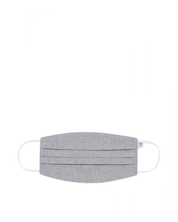Sunspel Cotton Face Mask in Mid Grey Melange