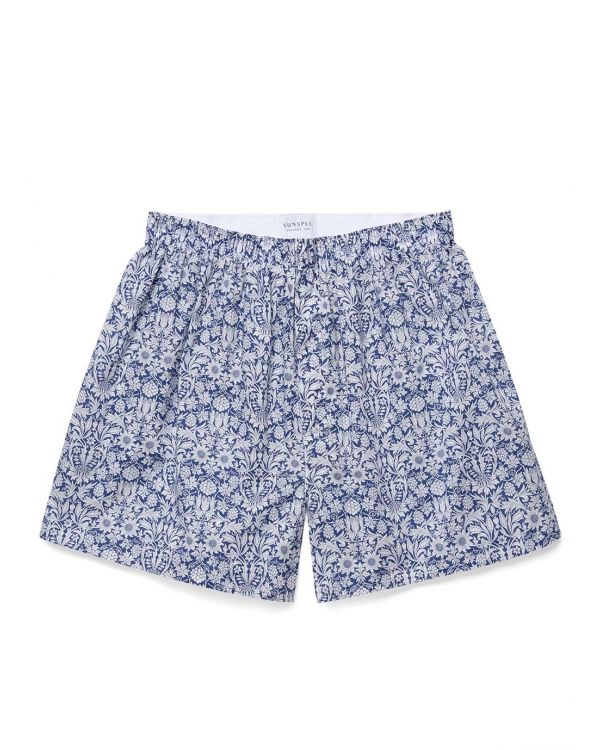 Men's Printed Cotton Boxer Shorts in Liberty Mortimer Bloom