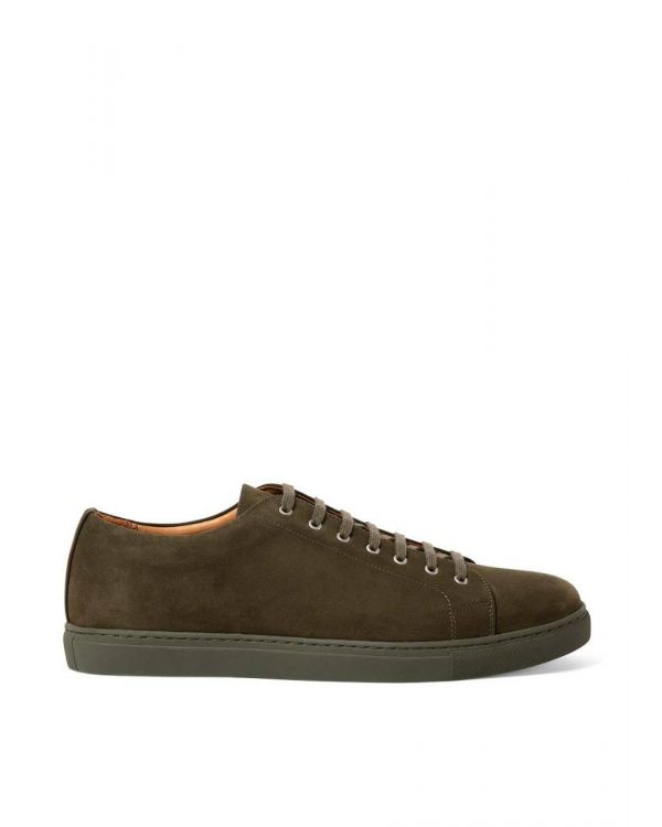 Men's Suede Nubuck Tennis Shoes in Pine