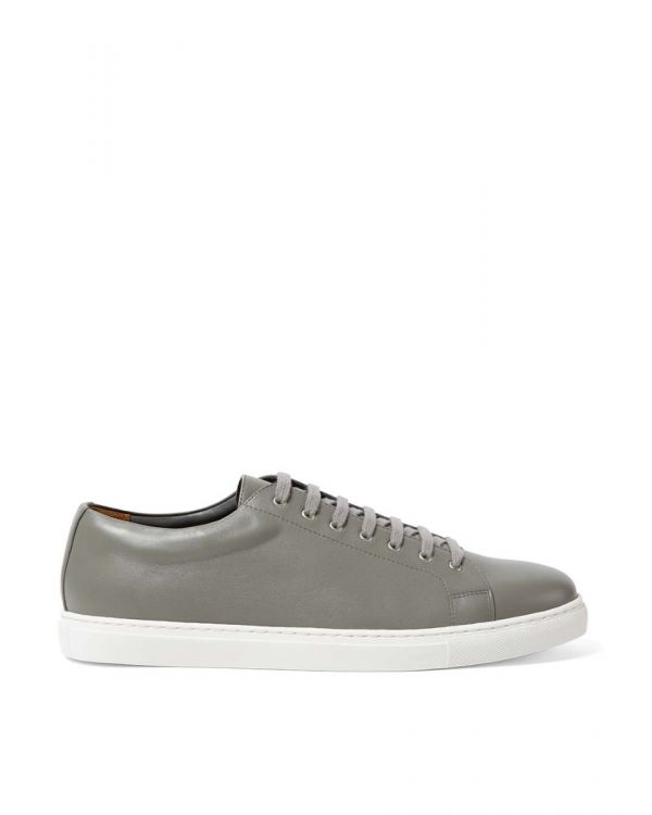 Men's Leather Tennis Shoes in Aston Grey