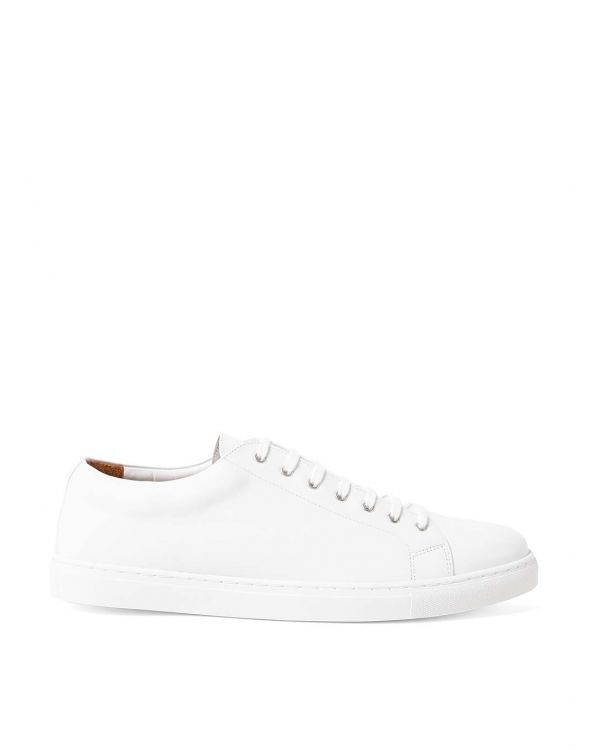 Women's Leather Tennis Shoes in White