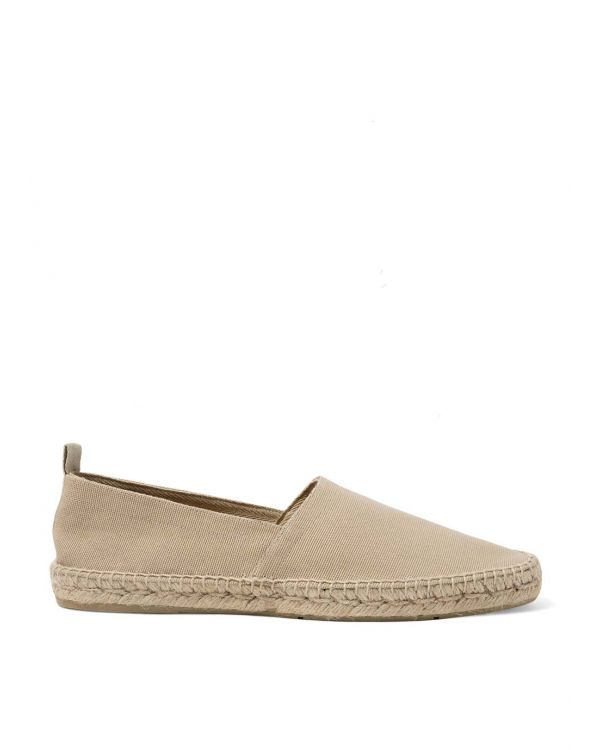 Men's Canvas Espadrille in Stone