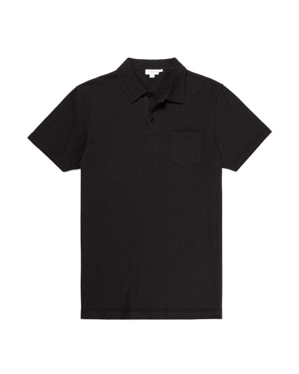 Men's Cotton Riviera Polo Shirt in Black