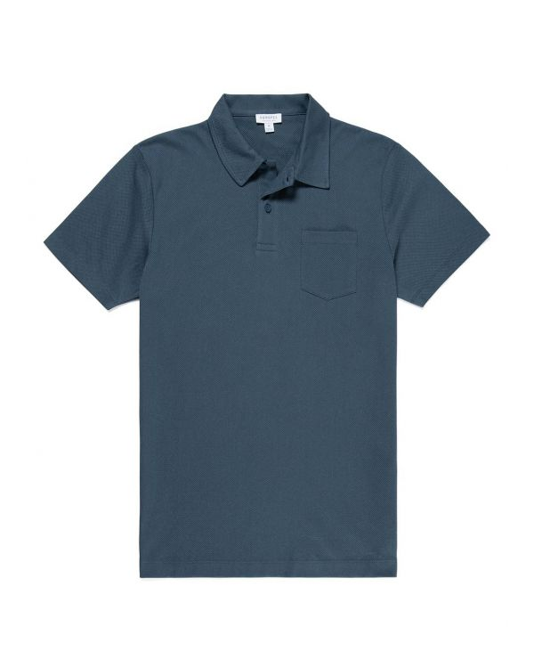 Men's Cotton Riviera Polo Shirt in Dark Petrol