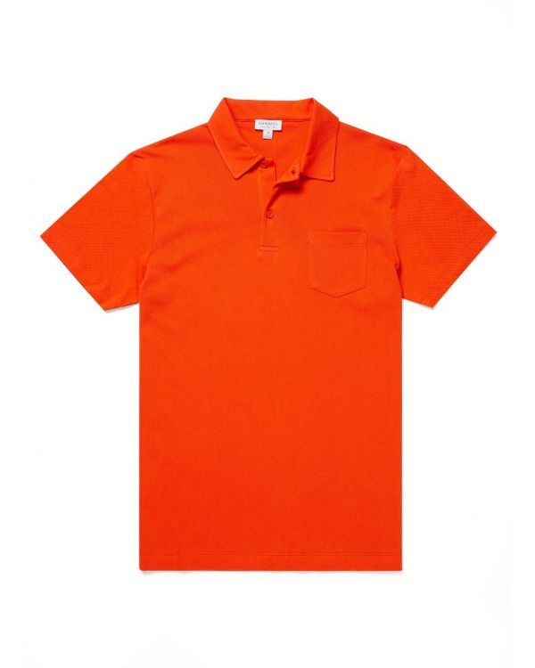 Men's Cotton Riviera Polo Shirt in Booth Red