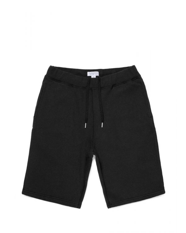 Men's Cotton Loopback Shorts in Black