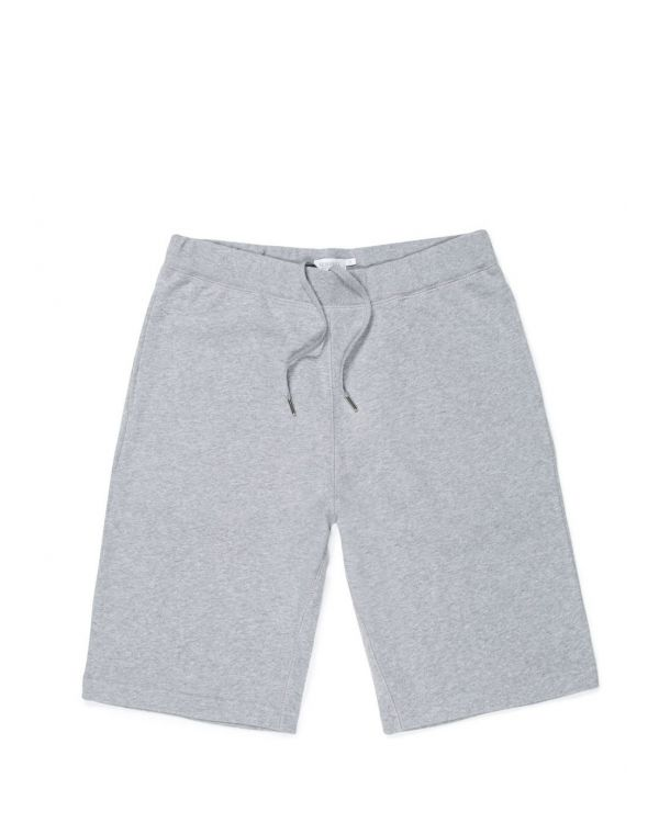 Men's Cotton Loopback Shorts in Grey Melange