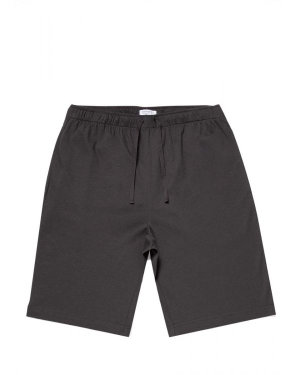Men's Cotton Modal Lounge Shorts in Charcoal