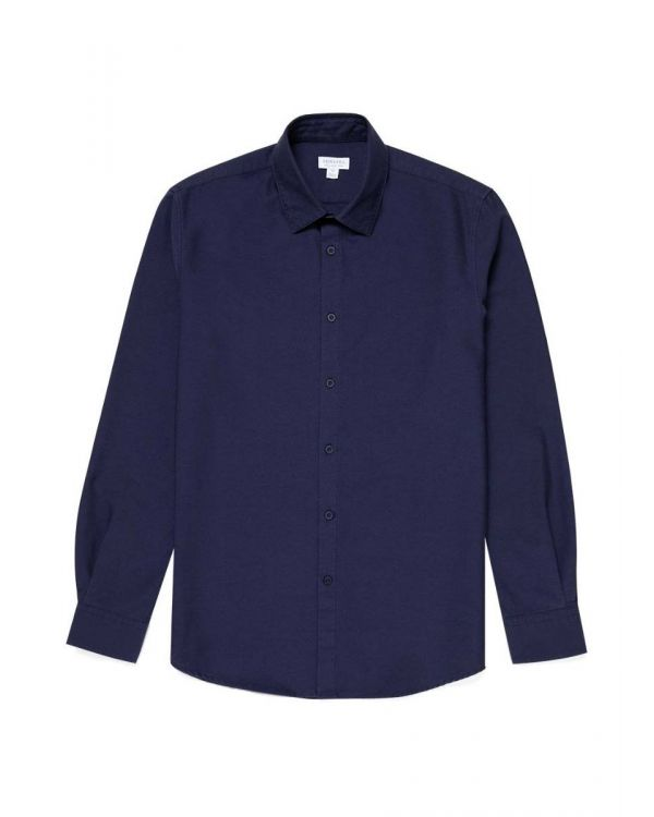 Men's Cotton Oxford Shirt in Navy