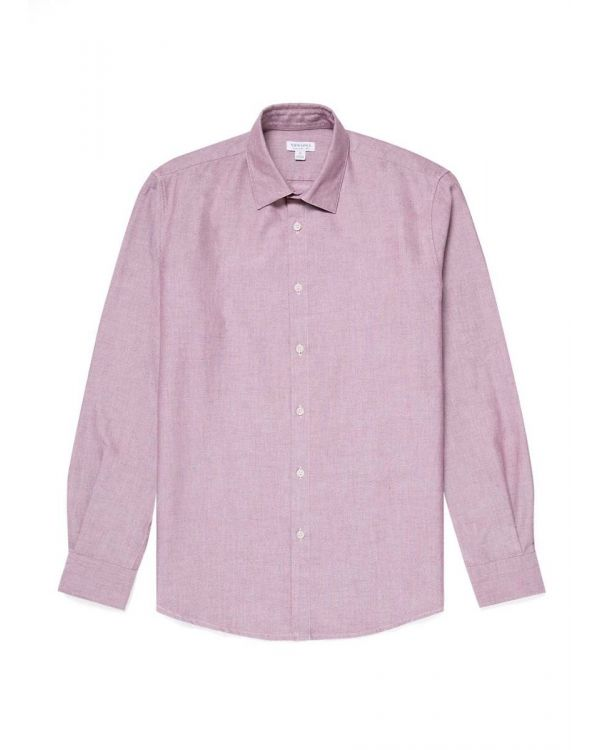 Men's Cotton Oxford Shirt in Merlot