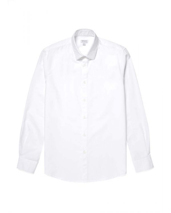 Men's Cotton Oxford Shirt in White