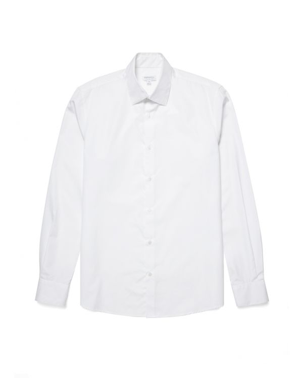 Men's Sea Island Cotton Smart Shirt in White