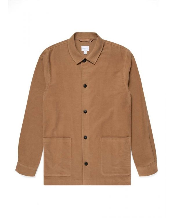 Men's Moleskin Twin Pocket Jacket in Camel