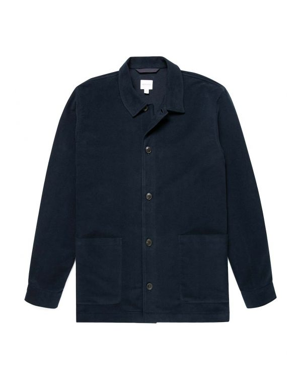 Men's Moleskin Twin Pocket Jacket in Navy