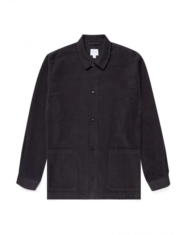 Men's Moleskin Twin Pocket Jacket in Charcoal