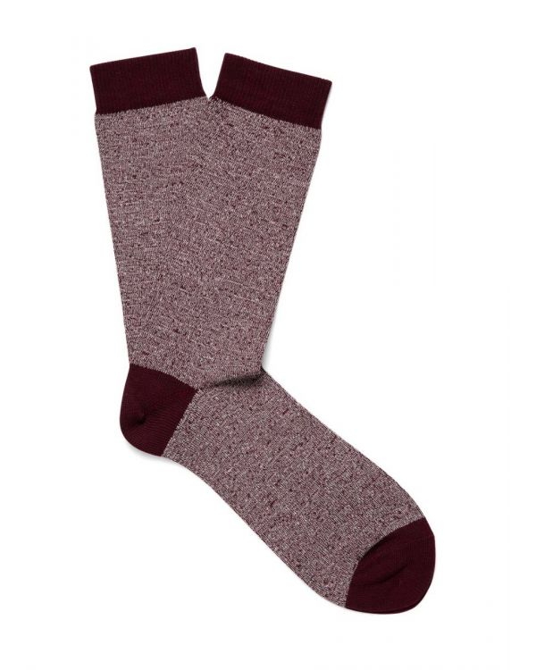 Men's Organic Cotton Socks in Oxblood Twist
