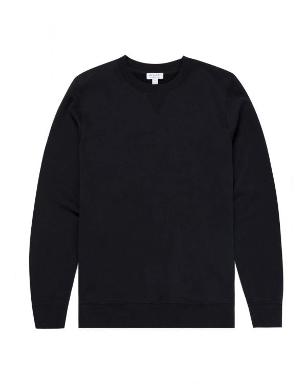 Men's Cotton Loopback Sweatshirt in Black