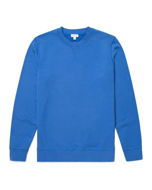 Men's Cotton Loopback Sweatshirt in Booth Blue