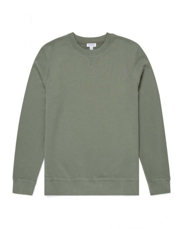 Men's Cotton Loopback Sweatshirt in Light Khaki