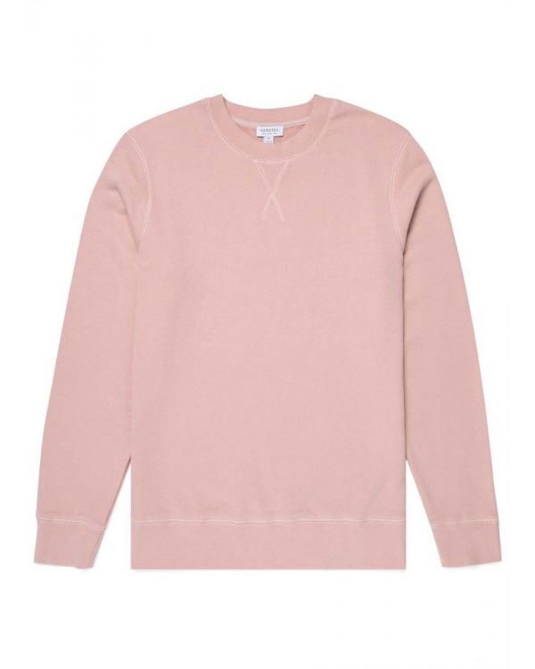 Men's Cotton Loopback Sweatshirt in Dusty Pink