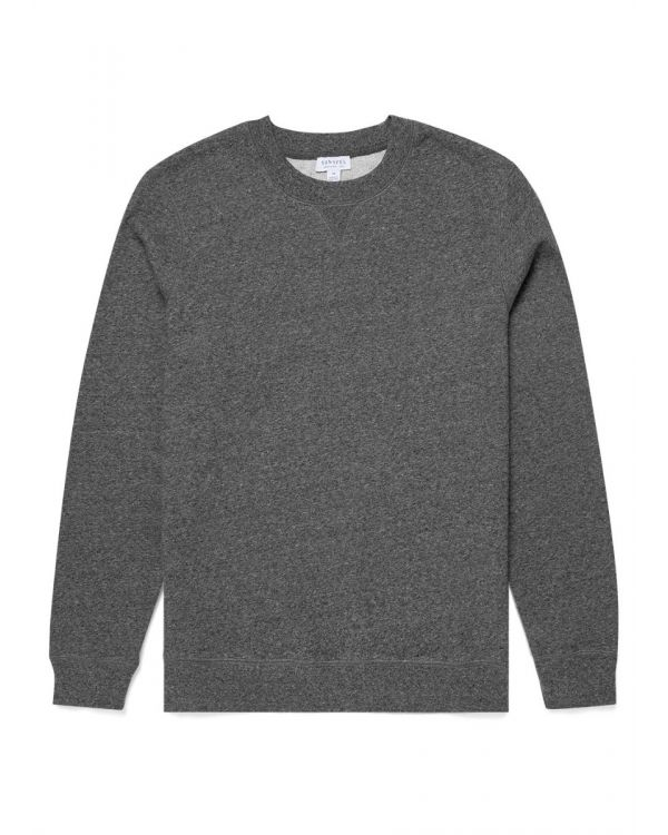 Men's Cotton Loopback Sweatshirt in Charcoal Twist