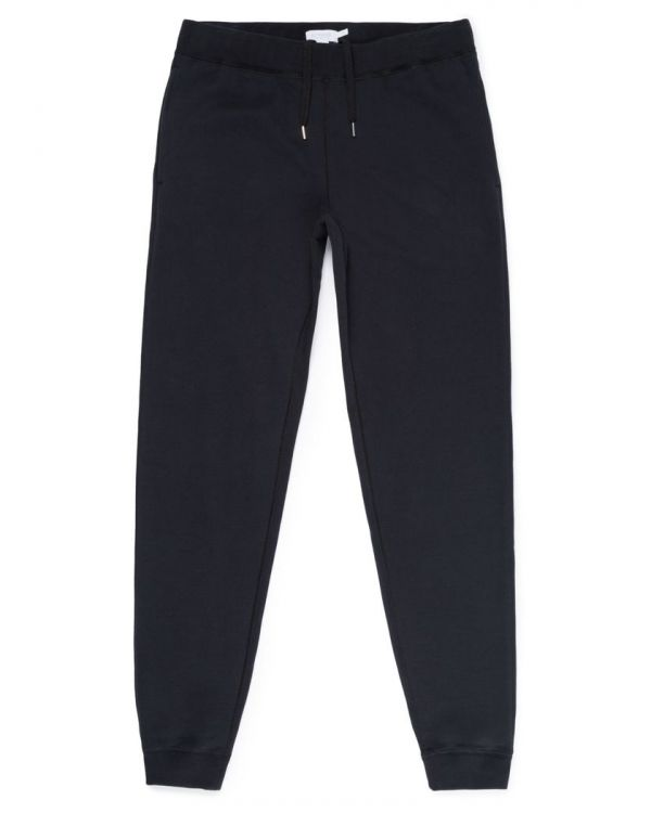 Men's Cotton Loopback Track Pant in Black