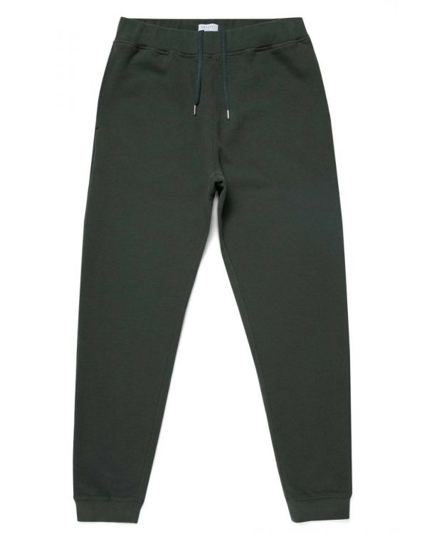 Men's Cotton Loopback Track Pant in Forest