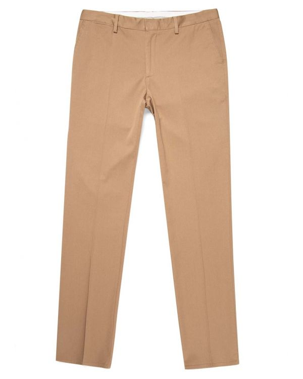 Men's Brushed Cotton Slim Fit Trouser in Stone