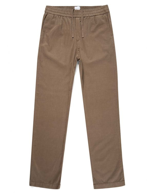 Men's Cotton Corduroy Drawstring Trouser in Dark Stone