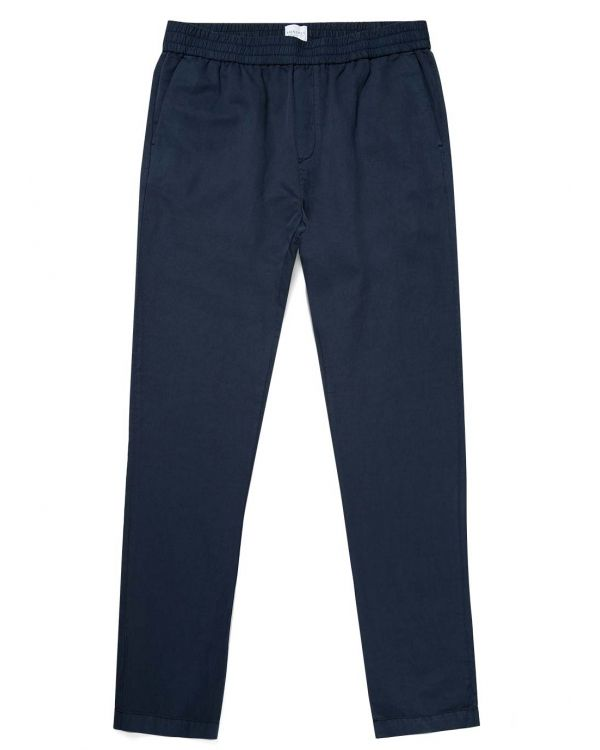 Men's Cotton Linen Drawstring Trouser in Navy