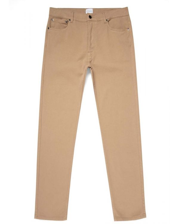 Men's Cotton Twill 5 Pocket Trouser in Stone