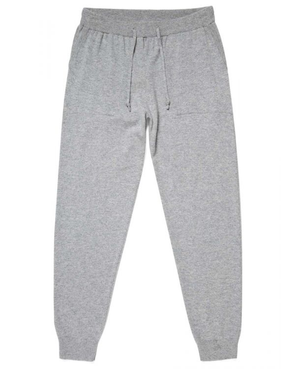 Men's Cashmere Lounge Pants in Grey Melange
