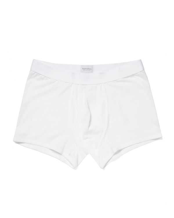 Men's Superfine Cotton Trunks in White