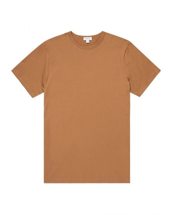 Men's Classic Cotton T-Shirt in Nutmeg